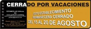 HORARIO DE VACACIONES AGOSTO 2011 GRAFIC33 impresio digital tarjetas de visita rotulacion vehiculos rotulos